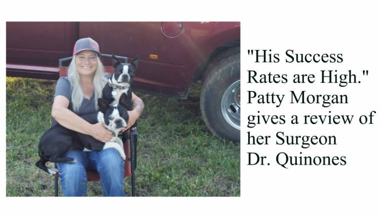 """His Success Rates are High."" Patty Morgan's Review on Dr. Quinones"