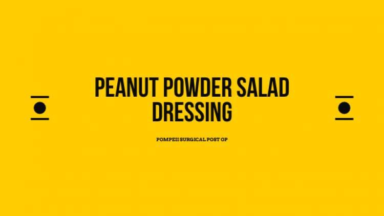Peanut Powder Salad Dressing